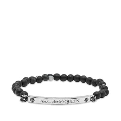 Alexander McQueen Skull & Beads Bracelet