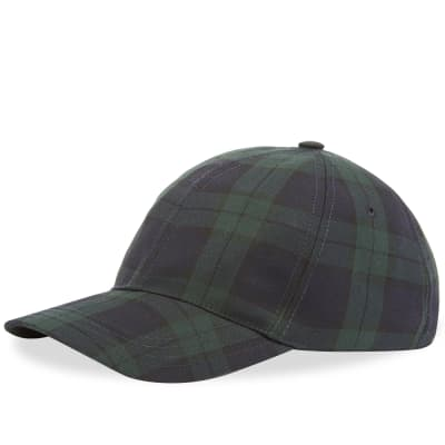 A.P.C. Black Watch Baseball Cap