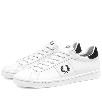 Fred Perry Authentic Lawn Leather Mesh Sneaker