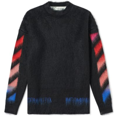 Off-White Diagonals Brushed Mohair Knit