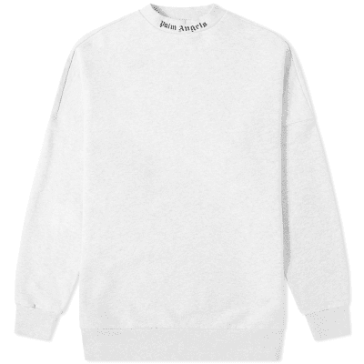 Palm Angels Logo Collar Crew Sweat