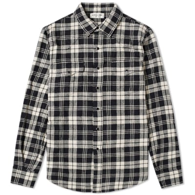 Saint Laurent Classic Western Check Shirt