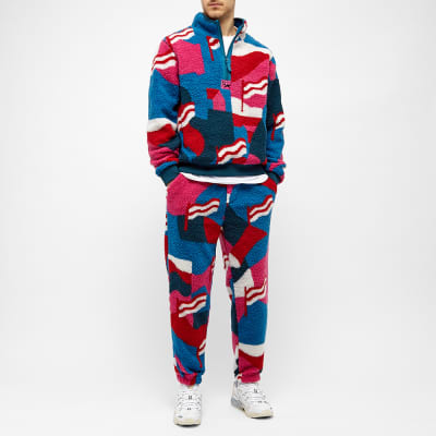 By Parra Flag Mountain Racer Pattern Sherpa Fleece