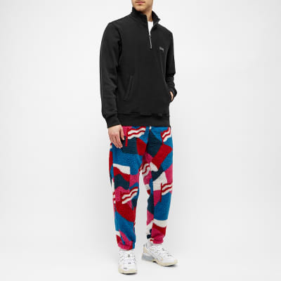 By Parra Flag Mountain Racer Pattern Sherpa Fleece Pant