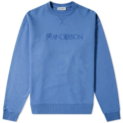 JW Anderson Logo Embroidery Crew Sweat
