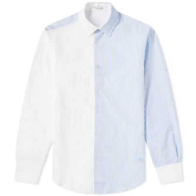 JW Anderson Panelled Stripe Oxford Shirt