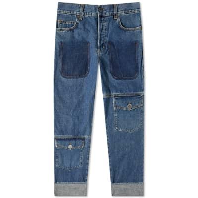 JW Anderson Shaded Pocket Detail Denim Jean