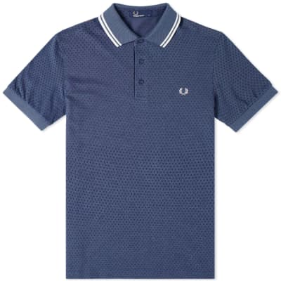 Fred Perry Geometric Print Pique Polo