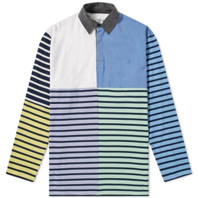JW Anderson Long Sleeve Patchwork Rugby Jersey Polo Shirt