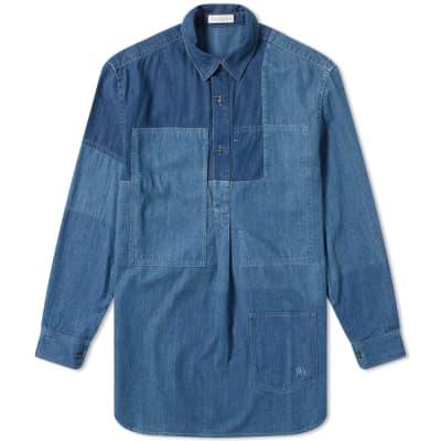 JW Anderson Shaded Patchwork Denim Shirt