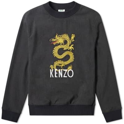Kenzo Woven Dragon Embroidered Crew Sweat