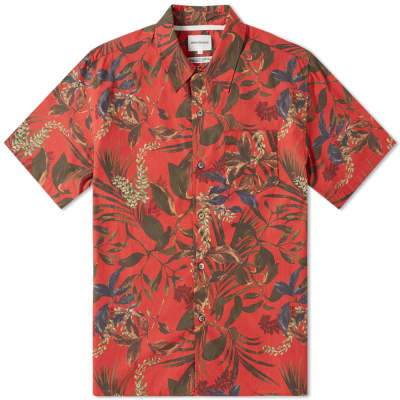 Norse Projects Short Sleeve Carsten Floral Print Vacation Shirt