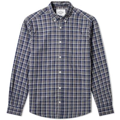 Portuguese Flannel Button Down Street Check Shirt