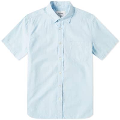 Portuguese Flannel Short Sleeve Atlantico Seersucker Shirt