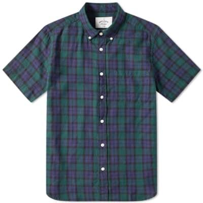 Portuguese Flannel Short Sleeve Bonfim Button Down Shirt