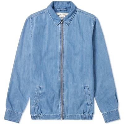 Portuguese Flannel Zip Denim Shirt Jacket