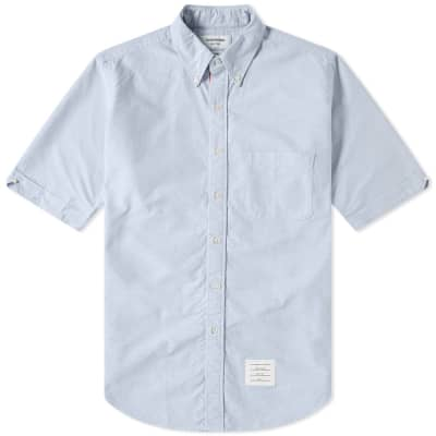 Thom Browne Classic Grosgrain Placket Oxford Shirt