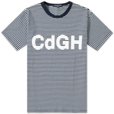 Comme des Garcons Homme Stripe Logo Tee