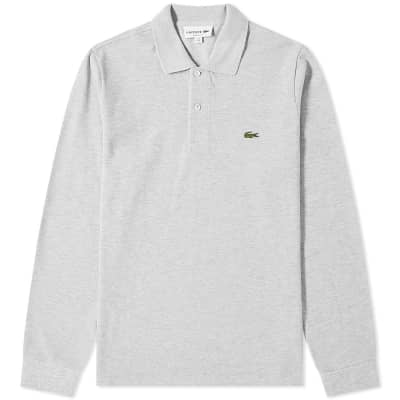 b77167f3 Lacoste Long Sleeve Marl Pique Polo