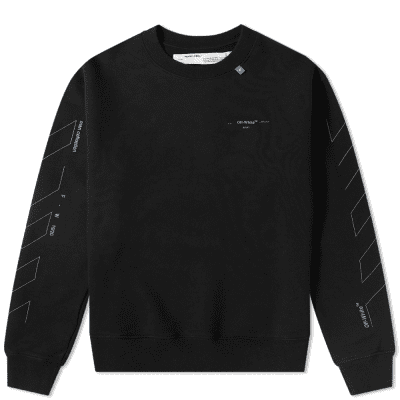 397ded980 Off-White Diagonal Backbone 3M Oversized Arrows Crew Sweat
