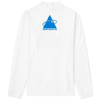 Off-White Long Sleeve Triangle Planet Tee