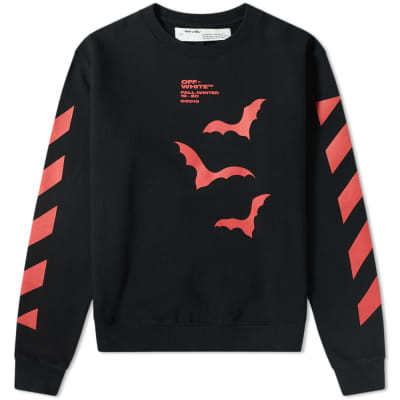 Off-White Diagonal Sleeve Bats Crew Sweat
