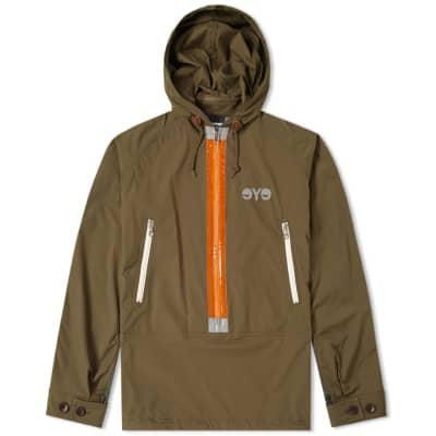 Junya Watanabe MAN Reflective Taped Popover Jacket