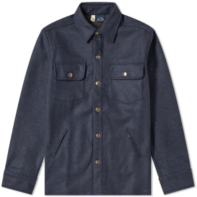 Bleu de Paname Bucheron Melton Wool Shirt Jacket