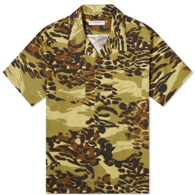 Givenchy Short Sleeve Cheetah Camo Hawaiian Shirt
