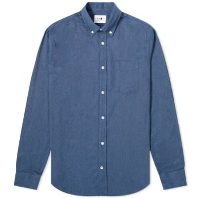 NN07 Levon Flannel Button Down Shirt