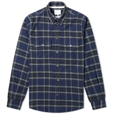 Norse Projects Villads Brushed FlannelCheck Shirt