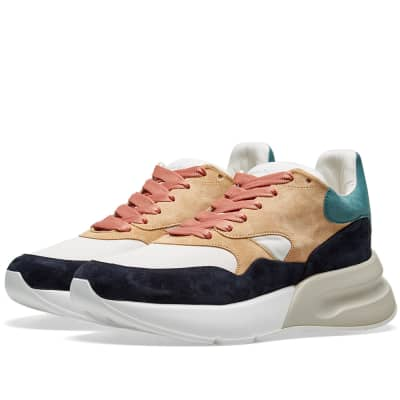 Alexander McQueen Suede Wedge Sole Runner Sneaker