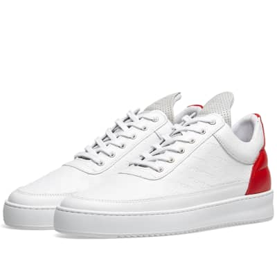 Filling Pieces Logo Embossed Low Top Sneaker