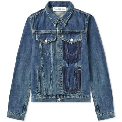 JW Anderson Shaded Pocket Detail Denim Jacket
