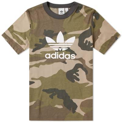 Adidas Camo Trefoil Tee