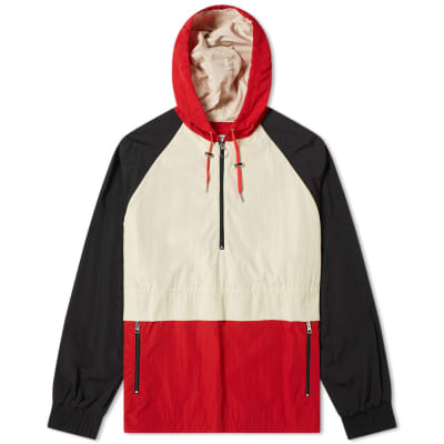 AMI Hooded Colour Block Jacket