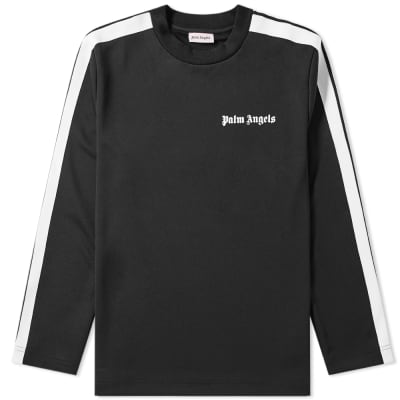 Palm Angels Long Sleeve Track Taping Tee
