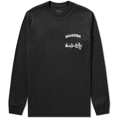 Maharishi Long Sleeve Ohm Patch Logo Tee