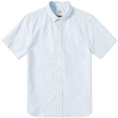 Portuguese Flannel Short Sleeve Button Down Belavista Oxford Shirt