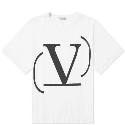 Valentino Oversized Constructed Go Logo Tee