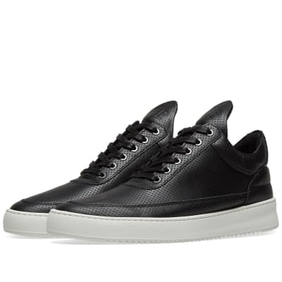 Filling Pieces Low Ripple Leather Perforated Sneaker