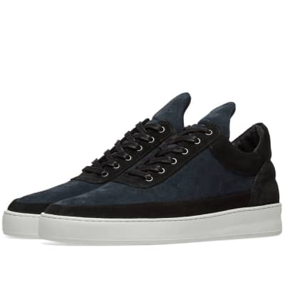 Filling Pieces Low Top Suede Sneaker