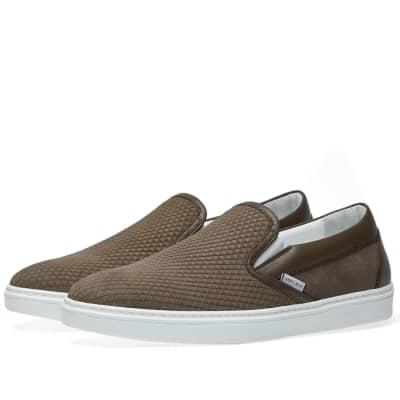 Jimmy Choo Grove Stamped Nubuck Slip On Sneaker