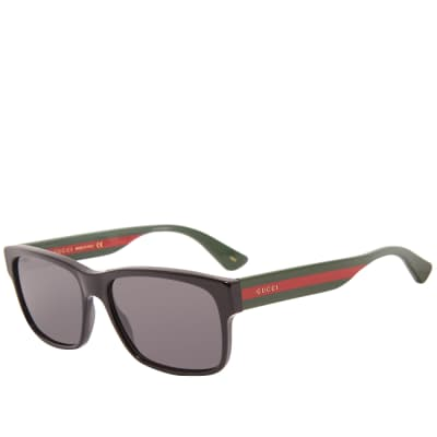 Gucci Sylvie Striped Sunglasses