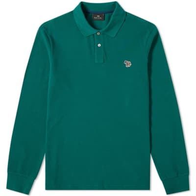 Paul Smith Long Sleeve Zebra Polo