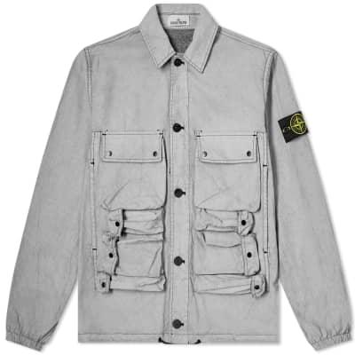 Stone Island Tela Plated Chalk Workwear Jacket