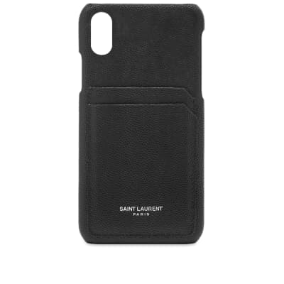 Saint Laurent Grain Leather iPhone X Case