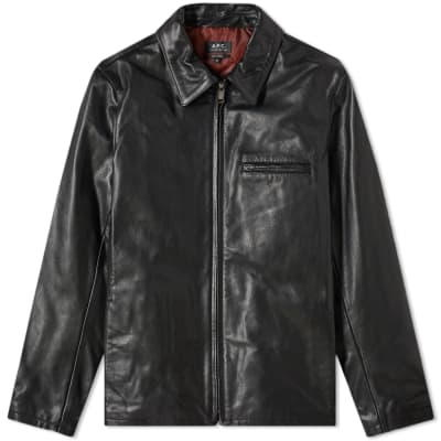 3ee4669f4 A.P.C. Leather Riders Jacket