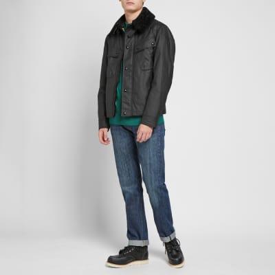 Belstaff Patrol Shearling Collar Waxed Jacket