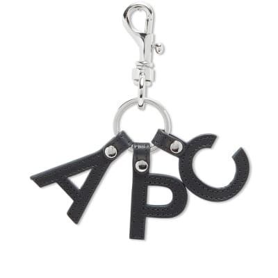 A.P.C. Letters Logo Key Ring